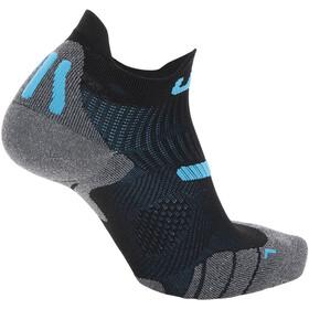 """UYN 2"""" Running Socks Men, black/turquoise"""